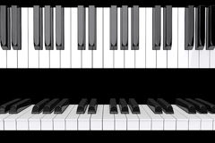 Closeup Piano keys Stock Photography