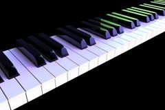 Closeup Piano keys Royalty Free Stock Photos