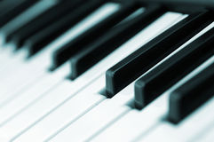 Piano keys diagonal Stock Images