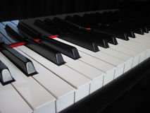 Closeup of piano keys, close frontal view Stock Images