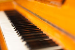 Closeup of the piano keys Stock Photo