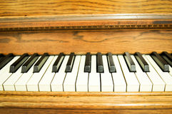 Closeup of a piano keys Royalty Free Stock Image