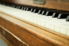 Closeup of a piano keys Royalty Free Stock Images