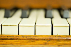 Closeup of a piano keys Royalty Free Stock Photography