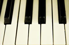 Closeup of a piano keys Royalty Free Stock Photo