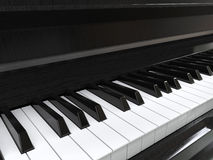 Closeup of piano keys Stock Image