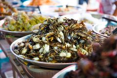 Pickled Crabs For Sale At Local Thai Street Market Stock Images