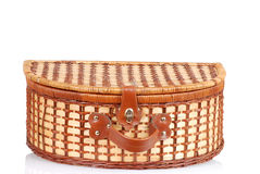Closeup picnic basket Royalty Free Stock Photo