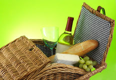 Closeup on picnic basket Stock Photography
