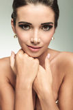 Closeup picture of a beautiful woman's face Royalty Free Stock Image