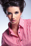 Closeup picture of a beautiful woman's face Stock Images