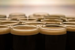 A closeup picture of a black beer royalty free stock photography