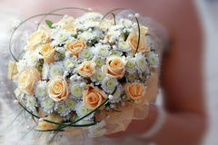 Closeup picture of brides wedding bouquet Royalty Free Stock Photography
