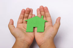 Closeup picture of child hands Stock Images