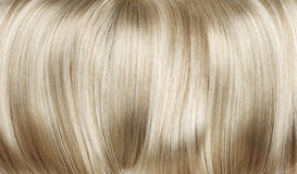 Closeup picture of dense, straight wig Stock Images