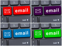 Closeup picture of email button Stock Photography