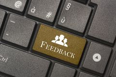 Closeup picture of Feedback button of keyboard of a modern computer royalty free stock images