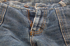 Closeup Picture of a Green Jeans Royalty Free Stock Image
