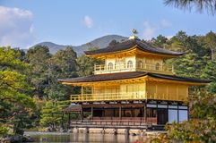 Closeup picture of Kinkakuji Temple The golden palace in Kyoto stock image