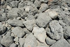 Closeup of grey stones. A closeup picture of a pile of grey stones Royalty Free Stock Photography