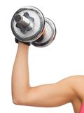 Sporty woman with dumbbell Stock Photos