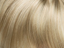 Closeup picture of straight, long blond hair Stock Photo