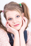 Closeup picture of a young woman Royalty Free Stock Photos