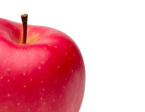 Closeup pictured of an apple Royalty Free Stock Photo