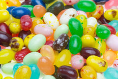 Closeup pictured of the jelly beans Stock Photography