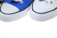 Closeup pictured of sneakers Royalty Free Stock Images