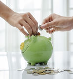 Closeup of piggy bank Royalty Free Stock Photo