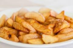 Closeup of a pile of bulgarian potato fries Royalty Free Stock Photos