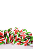 Closeup pile of candy canes Royalty Free Stock Photography