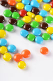Closeup of pile colorful chocolate candies Royalty Free Stock Photography