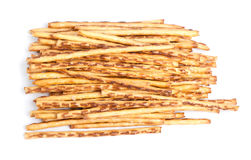 Closeup of a pile of delicious pretzel sticks Royalty Free Stock Image