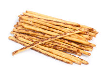 Closeup of a pile of delicious pretzel sticks Royalty Free Stock Images