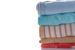 Closeup pile of female underwear on the white. Royalty Free Stock Photo