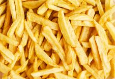 Closeup of a pile of french fries Stock Images