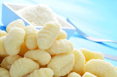 Gnocchi and parmesan cheese Royalty Free Stock Photography
