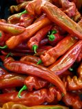 Hot Peppers Background Stock Photo