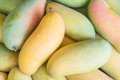 Closeup pile of mango textured background stock photo