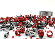 Free Closeup Pile Of Nuts And Bolts From Disassembled Clutch Royalty Free Stock Photo - 32015655