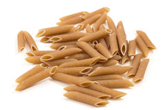 Closeup of pile of penne rigate pasta Stock Photography