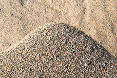 Closeup of a pile of sand and gravel in varied colors and shapes Stock Images