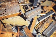 Closeup pile of scrap metal junk garbage Stock Image