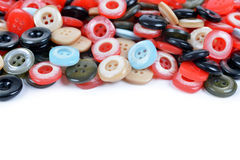 Closeup of a pile of sewing buttons Stock Image