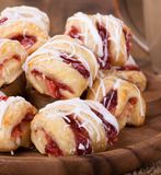Strawberry Pastries Closeup Stock Images