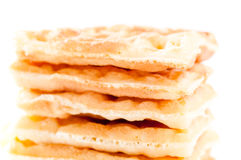 Closeup of pile of waffles Stock Image