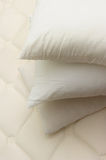 Closeup of pillow. On mattress royalty free stock photography