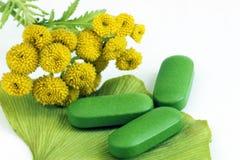 Closeup of pills Stock Image